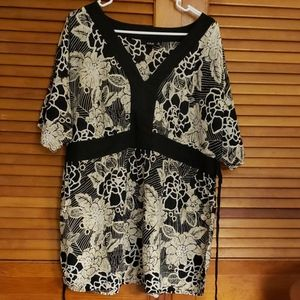 A.n.a. Plus Cotton Blouse Shortsleeved 1X